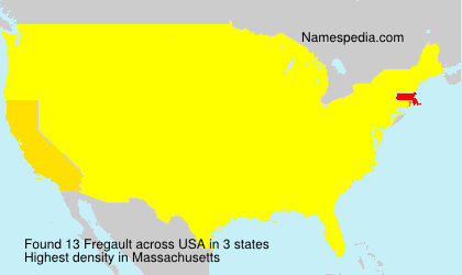 Surname Fregault in USA