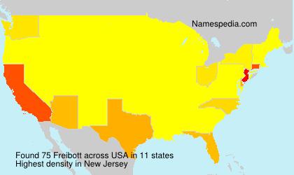 Familiennamen Freibott - USA