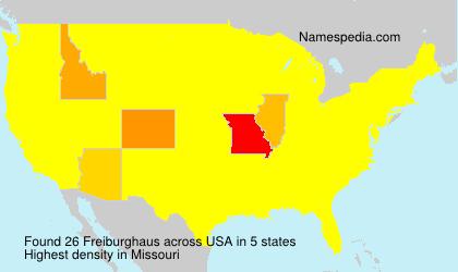 Familiennamen Freiburghaus - USA