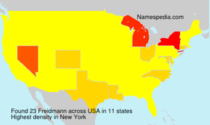 Surname Freidmann in USA