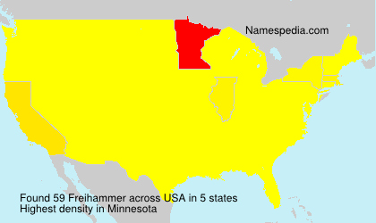 Surname Freihammer in USA