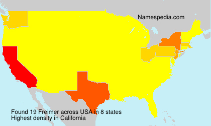 Surname Freimer in USA