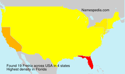 Surname Freiria in USA