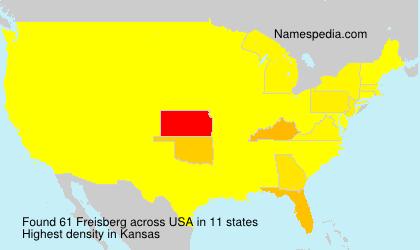 Surname Freisberg in USA