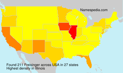 Surname Freisinger in USA