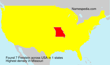 Surname Freistein in USA