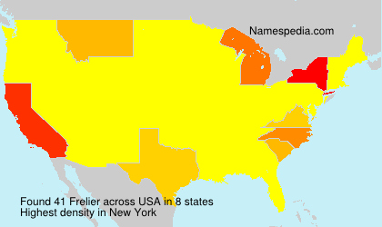 Surname Frelier in USA