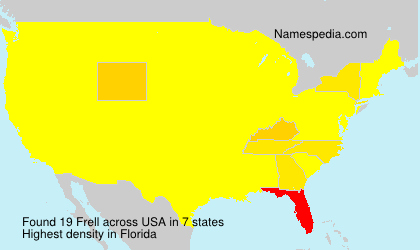 Surname Frell in USA