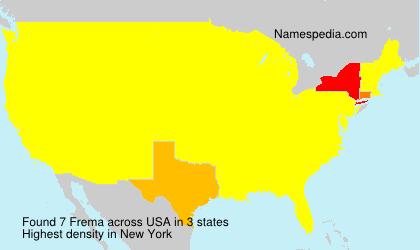 Surname Frema in USA
