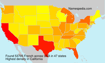 Surname French in USA