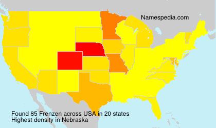 Surname Frenzen in USA