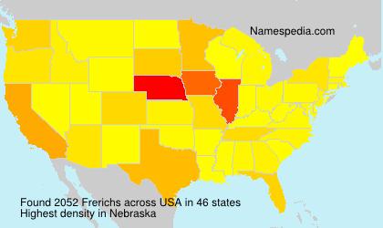 Familiennamen Frerichs - USA