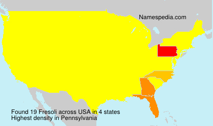 Familiennamen Fresoli - USA