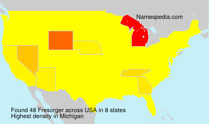 Surname Fresorger in USA