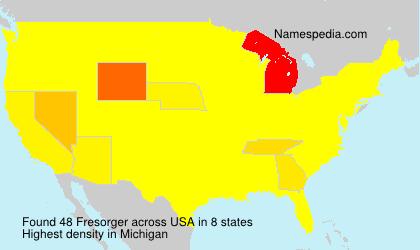 Surname Fresorger in USA