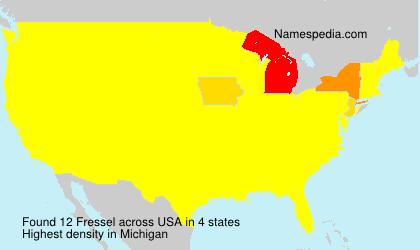 Familiennamen Fressel - USA