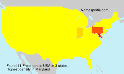 Surname Freto in USA