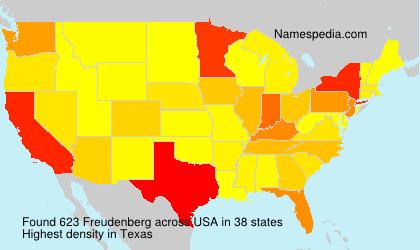 Surname Freudenberg in USA