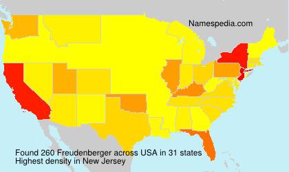 Familiennamen Freudenberger - USA