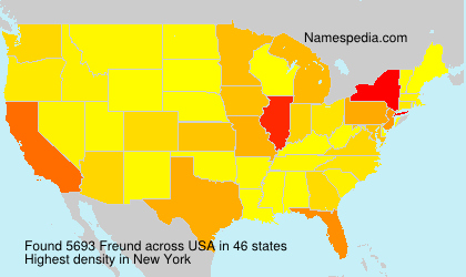 Surname Freund in USA