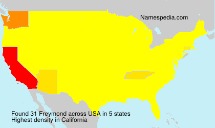 Surname Freymond in USA