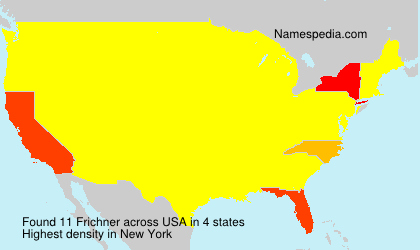 Surname Frichner in USA