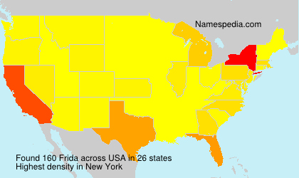 Surname Frida in USA