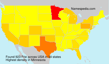 Surname Frie in USA