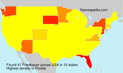 Surname Friedbauer in USA