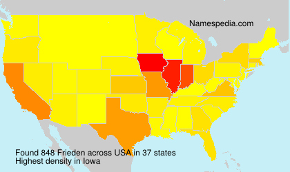 Surname Frieden in USA