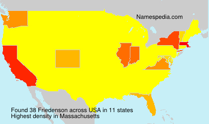 Surname Friedenson in USA