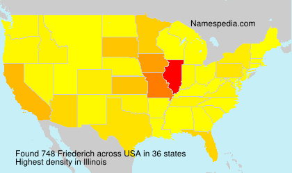 Surname Friederich in USA
