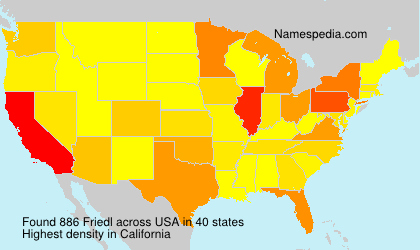 Surname Friedl in USA