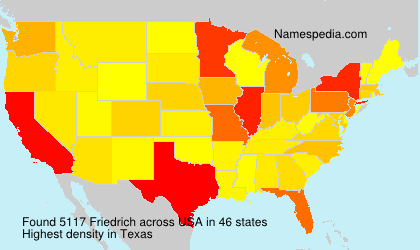 Surname Friedrich in USA