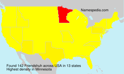 Surname Friendshuh in USA