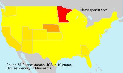 Familiennamen Friendt - USA