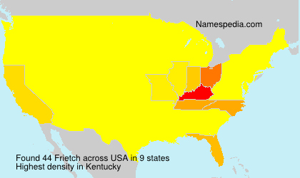 Surname Frietch in USA