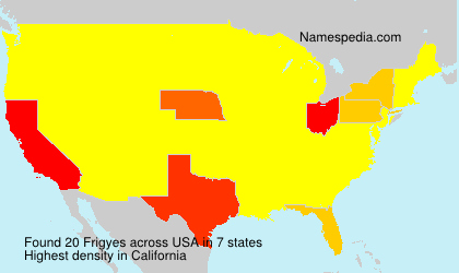 Surname Frigyes in USA