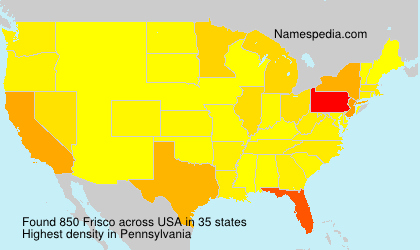 Surname Frisco in USA
