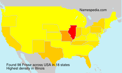 Surname Frisse in USA