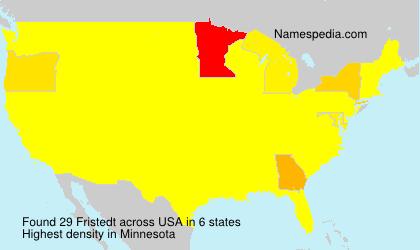 Surname Fristedt in USA