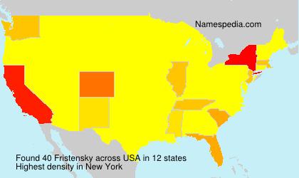 Surname Fristensky in USA