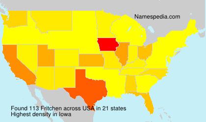 Familiennamen Fritchen - USA