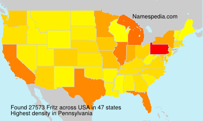 Surname Fritz in USA