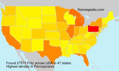 Familiennamen Fritz - USA