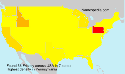 Surname Fritzley in USA