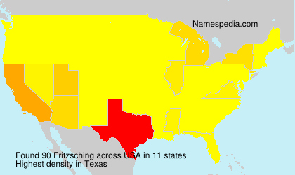 Surname Fritzsching in USA