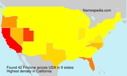 Surname Frixione in USA