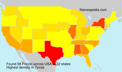 Surname Frizzel in USA