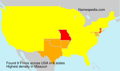 Familiennamen Frncis - USA
